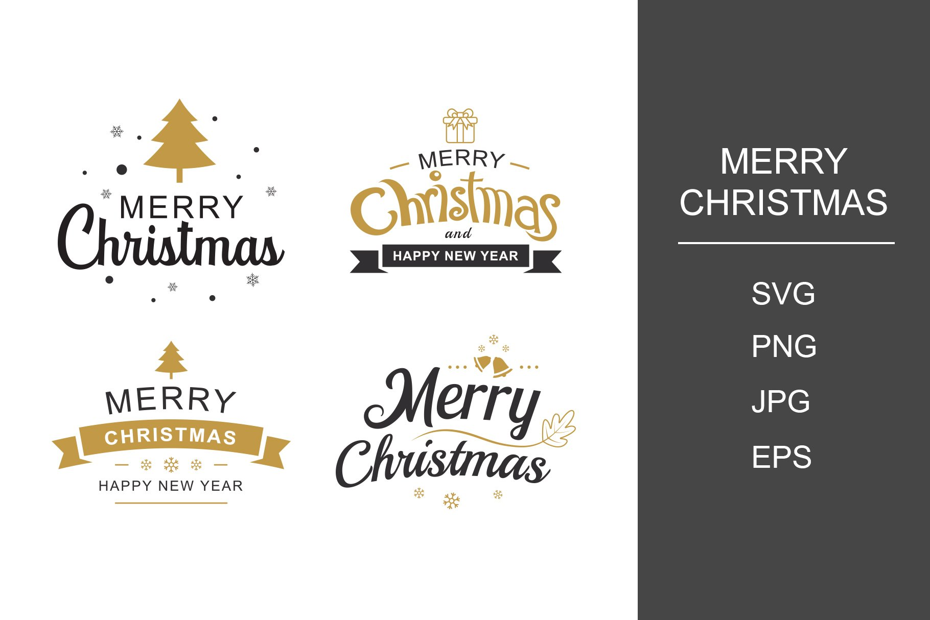 merry christmas and happy new year pre designed photoshop graphics creative market creative market