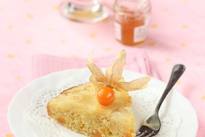 Piece of Pineapple Upside Down Cake