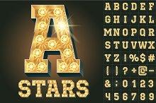 Light up lamp alphabet