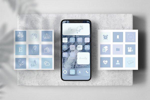 Boho 145 Iphone Ios 14 App Icons Custom Designed Icons Creative Market