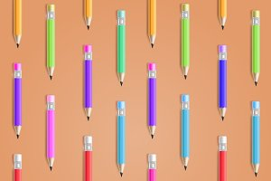 Color Pencil Seamless Background