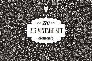 270 elements Vintage Decorations Set