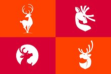 Deer silhouette icons