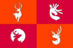 Deer silhouette icons