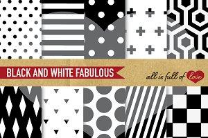 Paper Black White Background Pattern