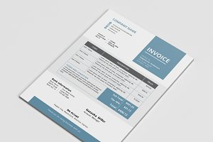 Elegant business Word invoice design