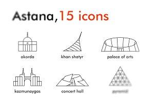 Astana, 15 icons (kazakhstan)