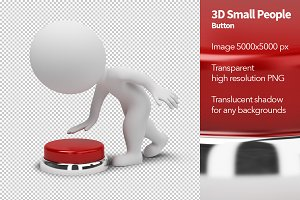 3D Small People - Button