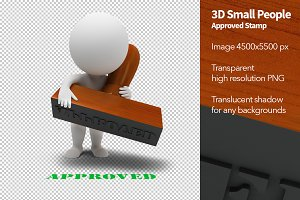 3D Small People - Approved Stamp