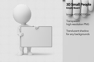 3D Small People - Empty Board
