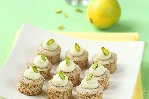 Pistachio Mini Cupcakes