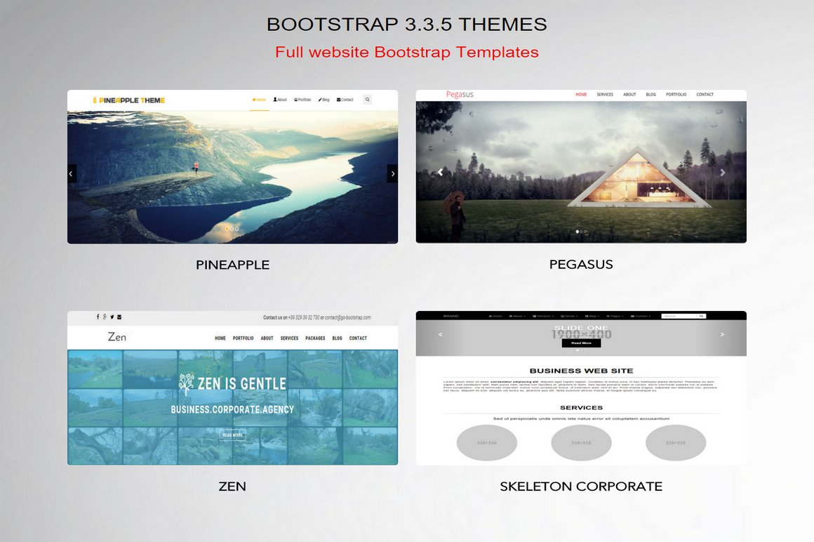 Bootstrap 3 3 5 Themes ~ Bootstrap Themes ~ Creative Market