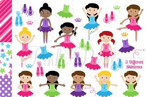 Ballet and Ballerina Clipart Vectors