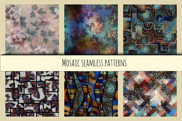 Seamless mosaic set.