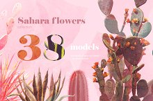 Sahara Flowers #01 by  in Mockups