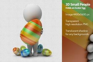 3D Small People - Easter Egg