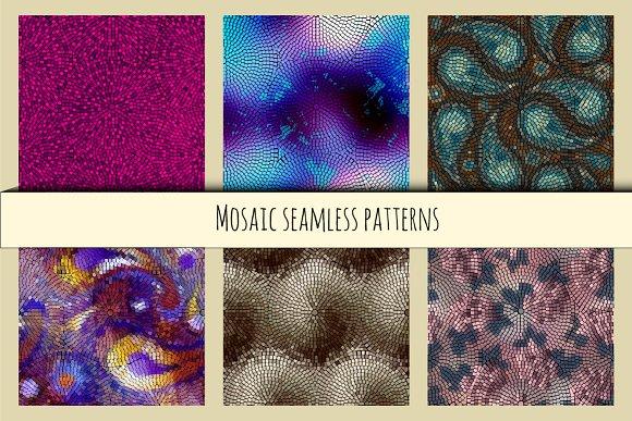 Set of seamless mosaics.