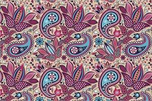 """Seamless pattern """"East Garden"""""""