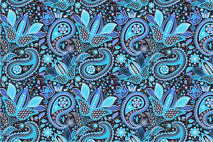 "Seamless pattern ""Night Garden"""