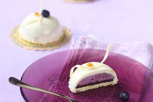 Blueberry Orange Mousse Cakes