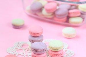 Colored Macaron Shells