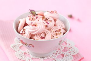 Rose Meringue Cookies