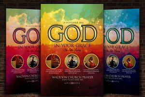 Gospel Praise Church Flyer Templates