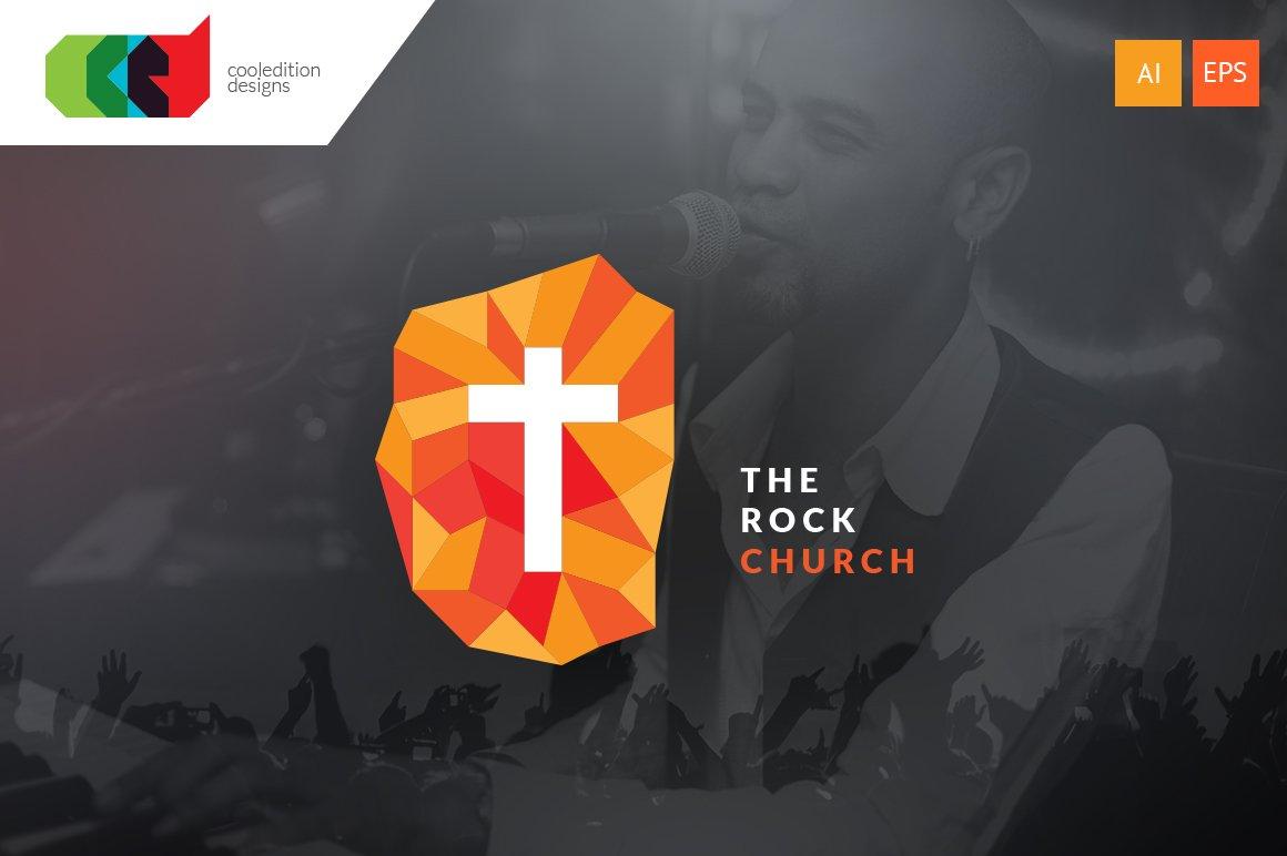 the rock church logo template logo templates creative market