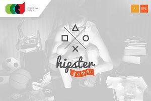 Hipster Gamer - Logo + Free BC