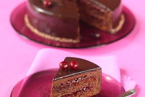 Chocolate Cherry Mousse Cake