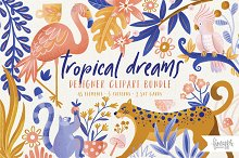 TROPICAL LEOPARD CLIPART by  in Graphics