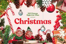 100+ Vintage Christmas Cut-Outs by  in Graphics