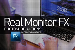 Real Monitor FX Photoshop Action