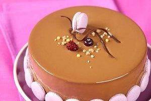 Apple, Blueberry Chocolate Cake