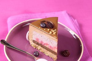 Apple, Blueberry Chocolate Cake