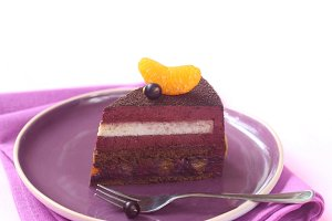Milk Chocolate, Black Currant Cake