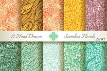 10 Ornate Seamless Florals. Set #3