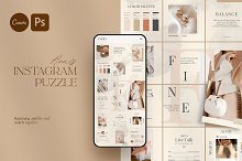 Puzzle Anais Instagram | PS CANVA by  in Social Media