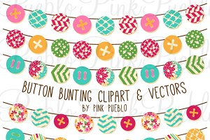 Button Bunting Clipart & Vectors