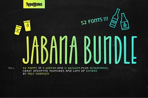 Jabana – 52 Fonts Bundle