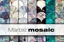 20 mosaic marble 300 dpi textures by  in Graphics