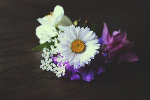 Bouquet with white daisy