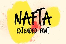 Nafta Extended Marker Font by  in Fonts