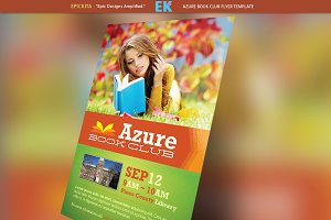 Azure Book Club Flyer Template