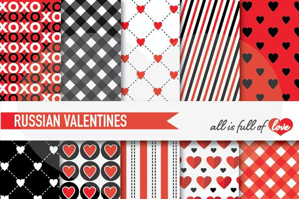 Red Black Valentines Day Background