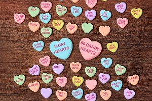Conversation Hearts Candy Clipart