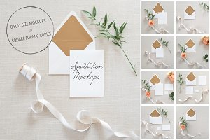 Wedding Invitation Mockups + PSD