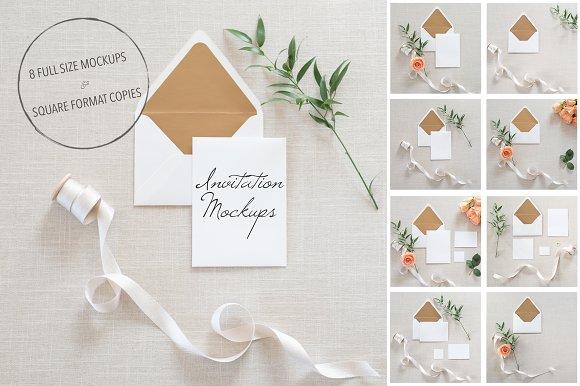 Wedding invitation mockups psd product mockups creative market stopboris Image collections