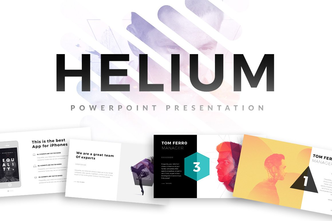 Helium PowerPoint Template ~ Presentation Templates ~ Creative Market