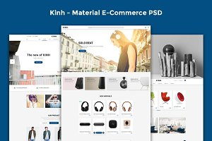 Kinh - Material E-Commerce PSD
